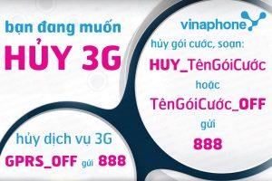 Hướng dẫn cách hủy đăng ký mạng 3G Vinaphone