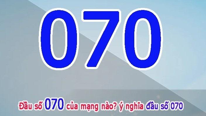 Đầu số 070 của nhà mạng Mobifone phát hành