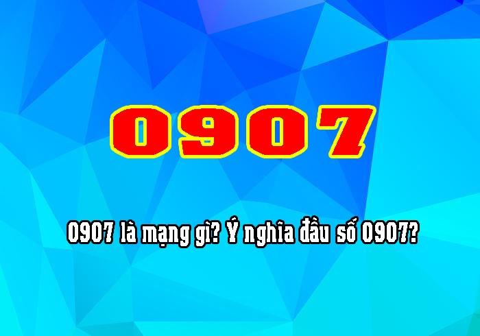 Đầu số 0907 của nhà mạng Mobifone