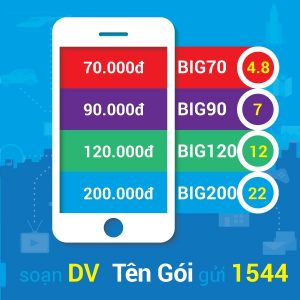 Cách đăng ký gói Big70 Vinaphone