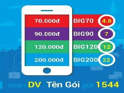 Cách đăng ký gói Big70 Vinaphone - Ưu đãi siêu khủng